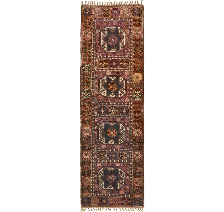 3' 7 x 11' 10 Shiraz Persian Runner Rug