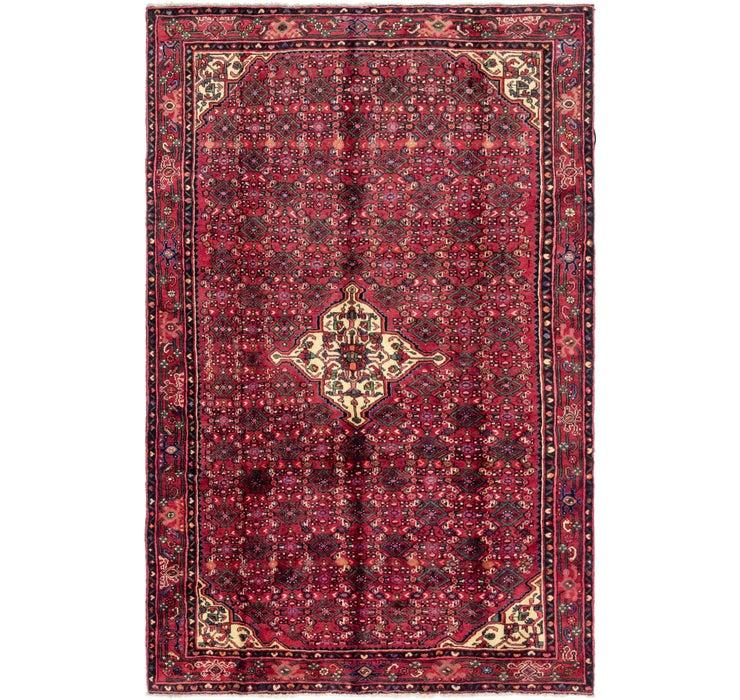 193cm x 305cm Hossainabad Persian Rug