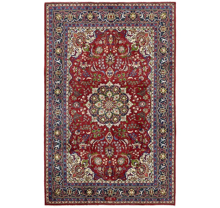 6' 6 x 10' Sarough Persian Rug