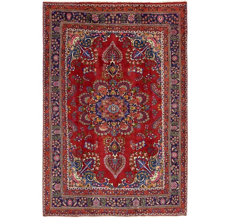 195cm x 292cm Mashad Persian Rug