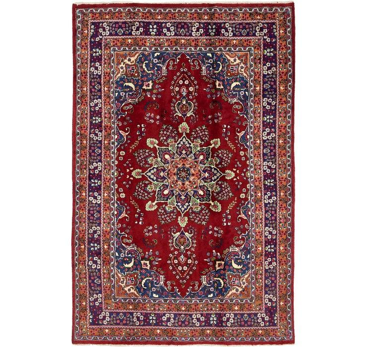 6' 6 x 10' Mashad Persian Rug