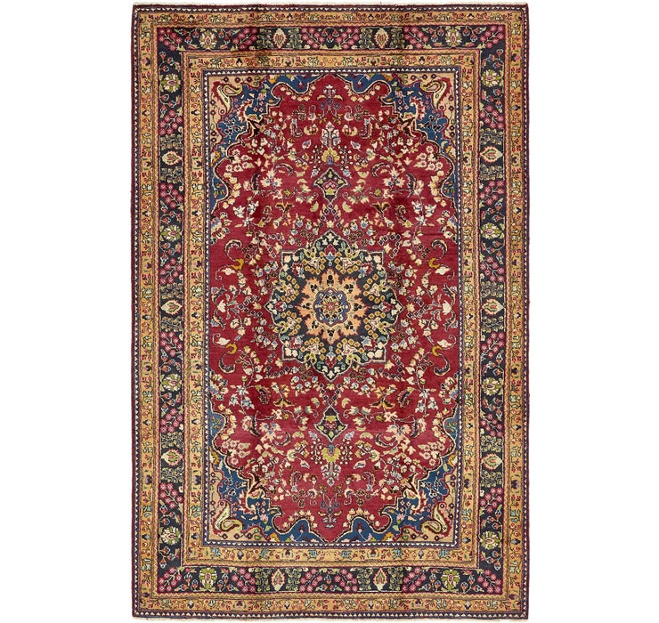 6' 4 x 10' Mashad Persian Rug