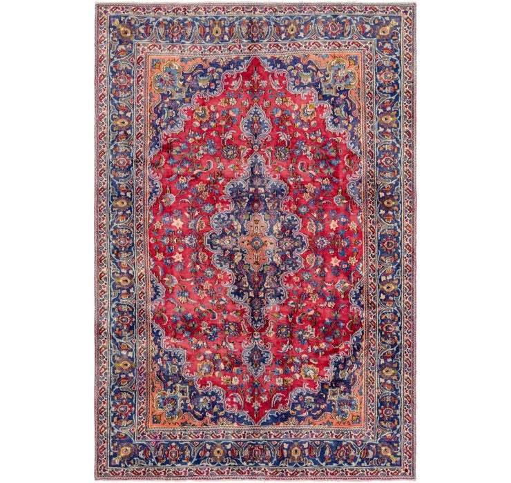 188cm x 282cm Mashad Persian Rug