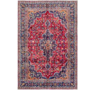 Image of 6' 2 x 9' 3 Mashad Persian Rug