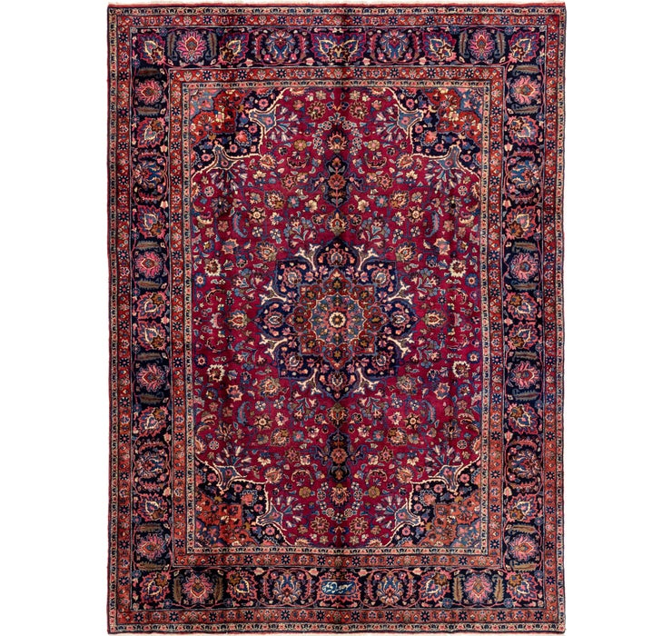255cm x 348cm Mashad Persian Rug