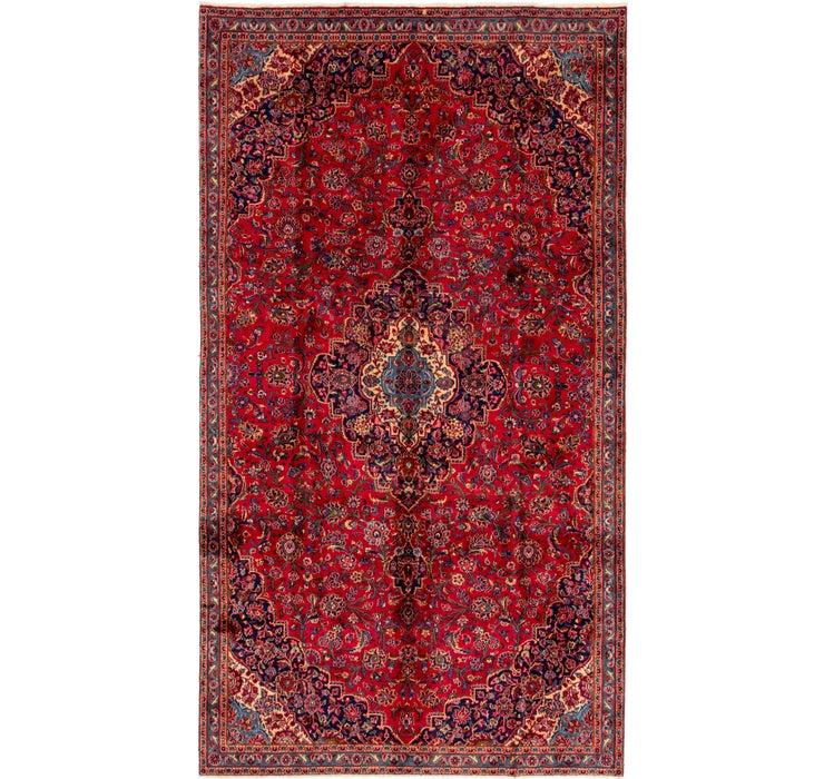 7' x 13' 2 Mashad Persian Runner Rug
