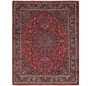 Image of 9' 7 x 12' 4 Mashad Persian Rug
