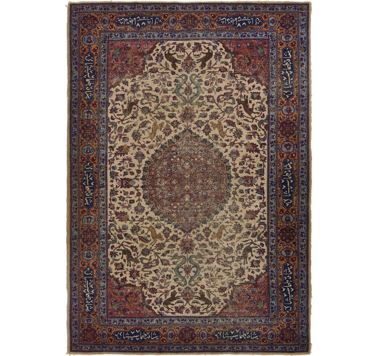 Image of 6' 4 x 9' 2 Isfahan Persian Rug