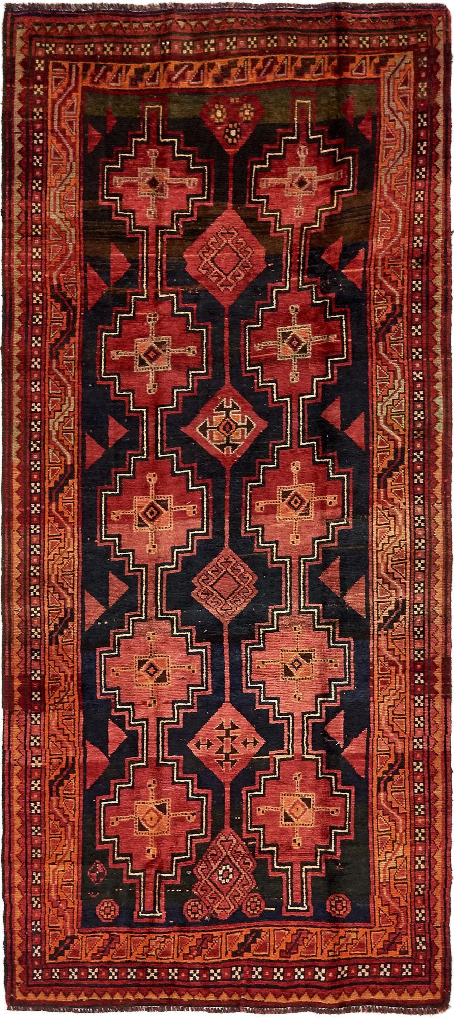 4' 5 x 9' 9 Shiraz-Lori Persian Runner Rug main image