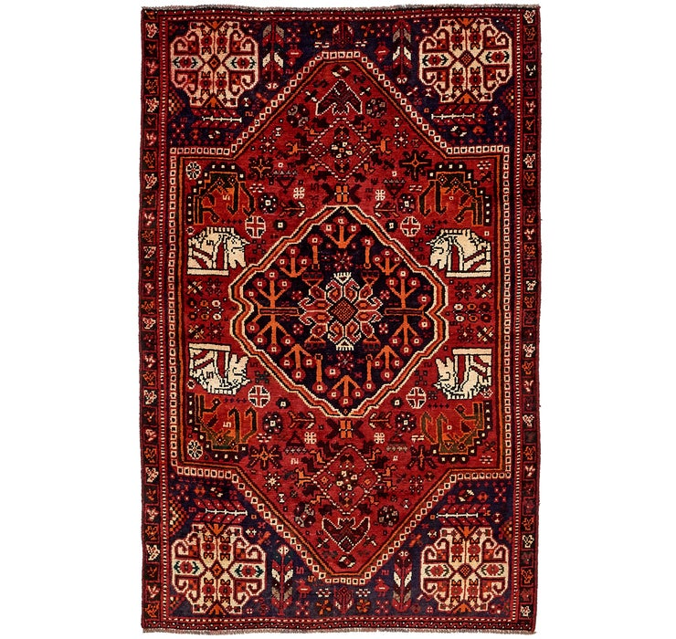 4' 5 x 7' 2 Shiraz Persian Rug