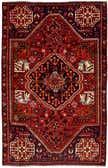 4' 5 x 7' 2 Shiraz Persian Rug thumbnail