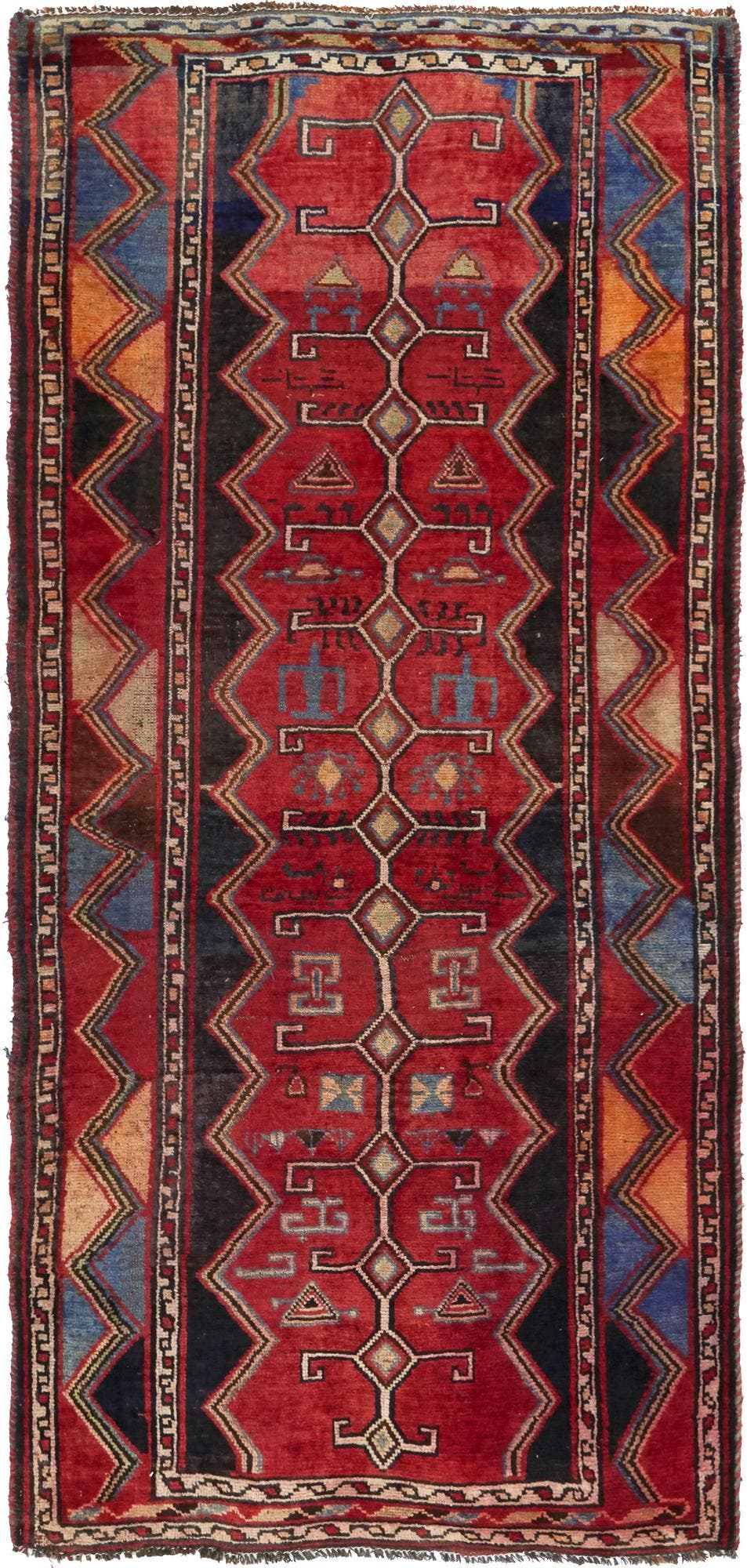 4' 3 x 9' 2 Shiraz-Lori Persian Runner Rug main image