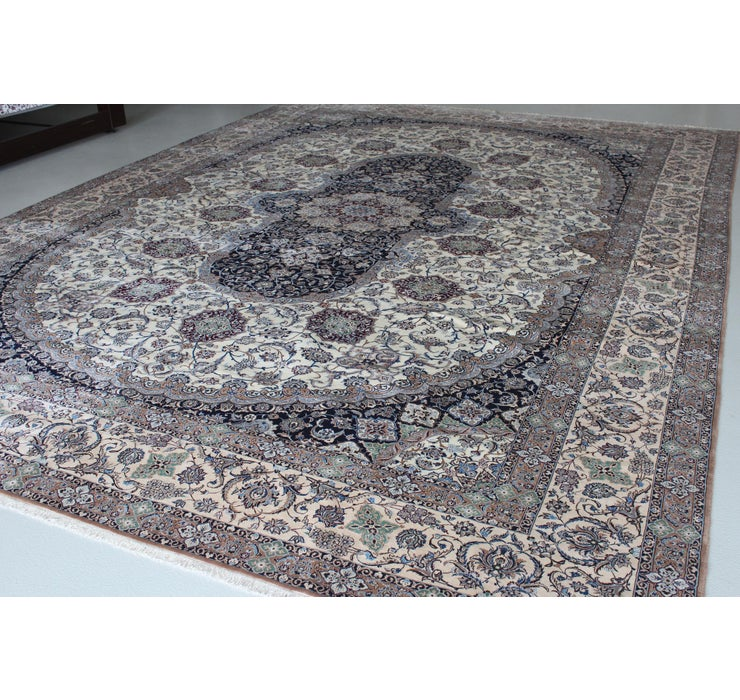 350cm x 493cm Nain Persian Rug