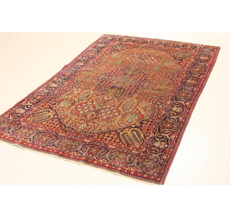 4' 3 x 6' 7 Qom Persian Rug