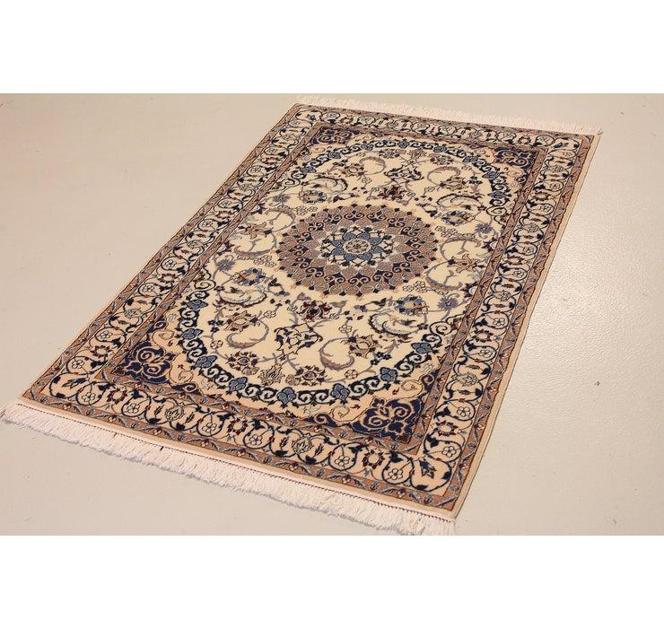 3' 2 x 4' 10 Nain Persian Rug