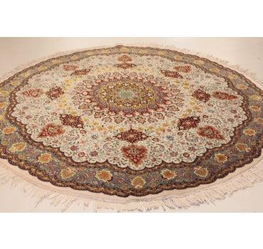 8' 2 x 8' 2 Tabriz Persian Round Rug main image