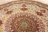 8' 2 x 8' 2 Tabriz Persian Round Rug thumbnail