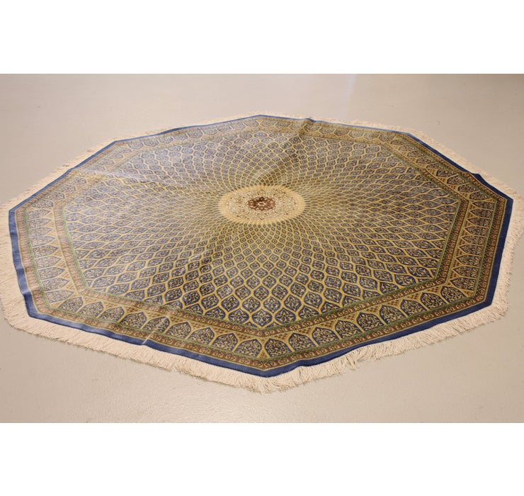 193cm x 198cm Qom Persian Octagon Rug