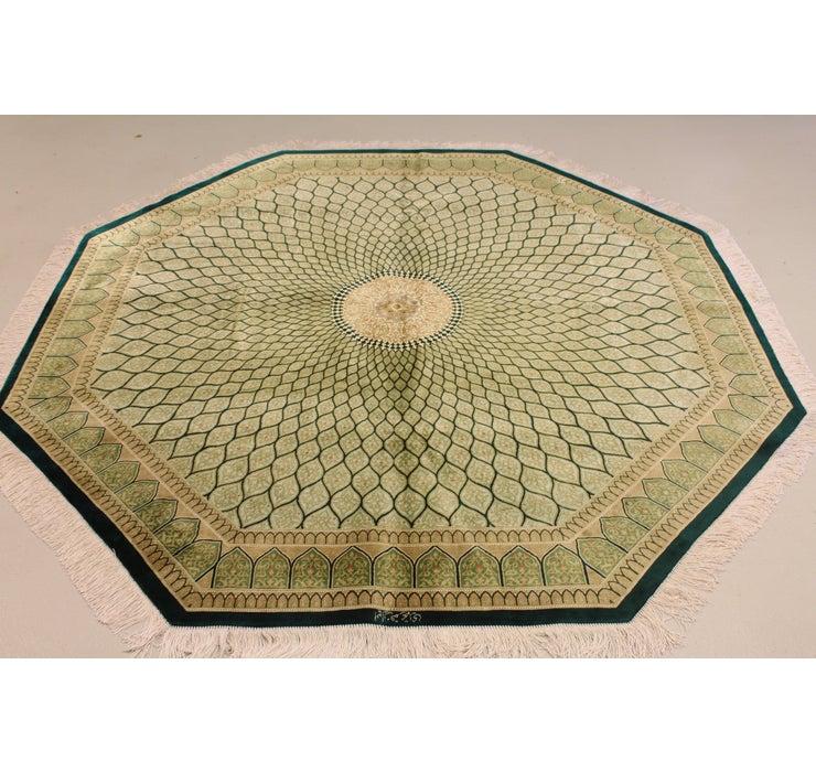195cm x 195cm Qom Persian Octagon Rug