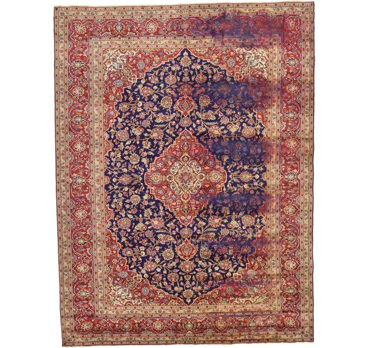 9' 8 x 12' 10 Kashan Persian Rug