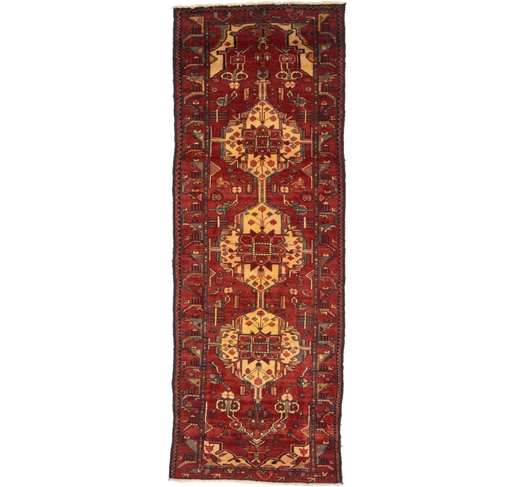 Image of 3' 6 x 9' 7 Hamedan Persian Runner ...