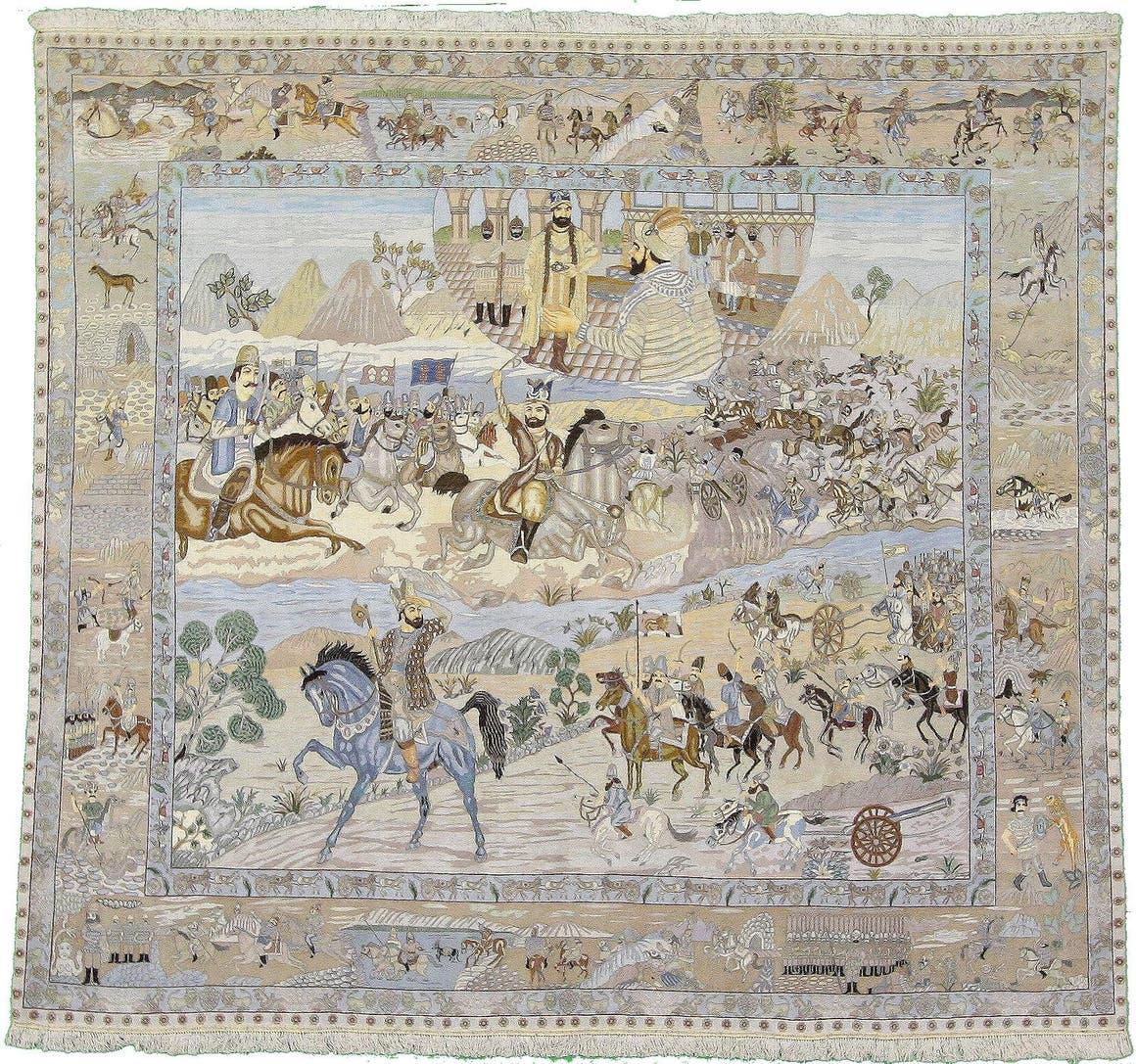 8' 9 x 9' 5 Tabriz Persian Square Rug main image