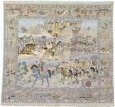 8' 9 x 9' 5 Tabriz Persian Square Rug thumbnail
