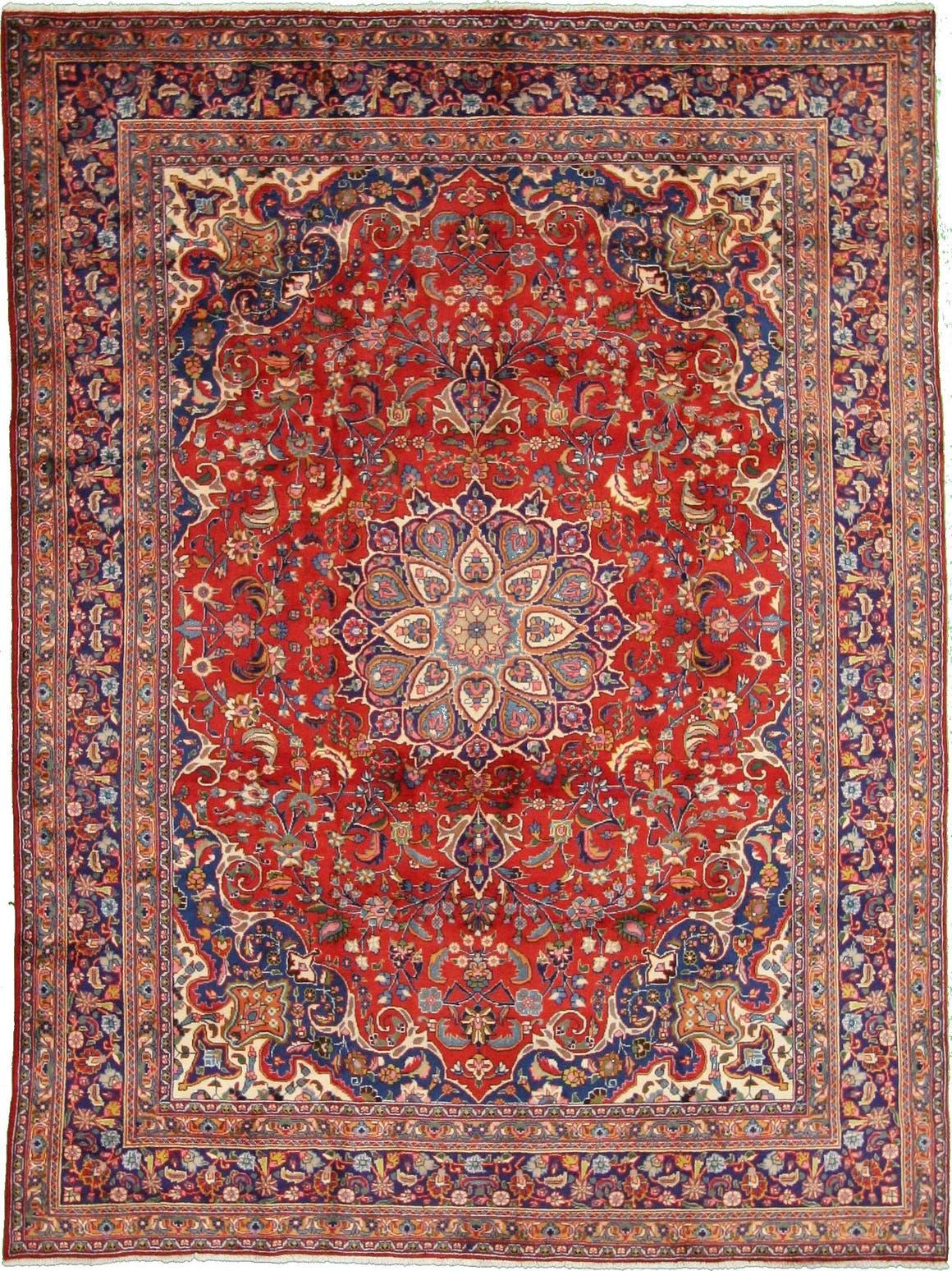 9' 8 x 12' 10 Mashad Persian Rug main image