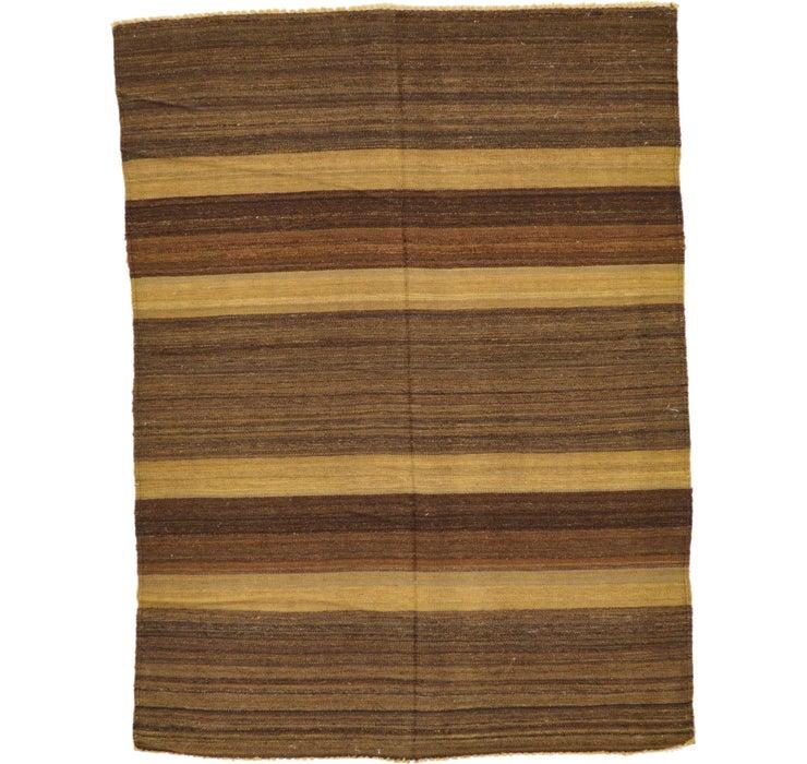 4' 2 x 5' 7 Striped Modern Kilim Rug