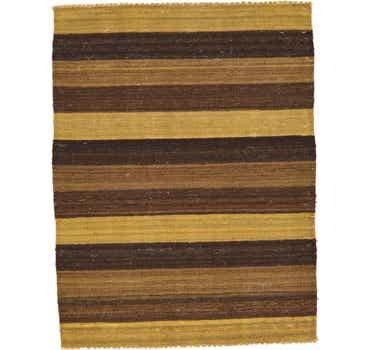 Image of 3' x 3' 11 Striped Modern Kilim Rug