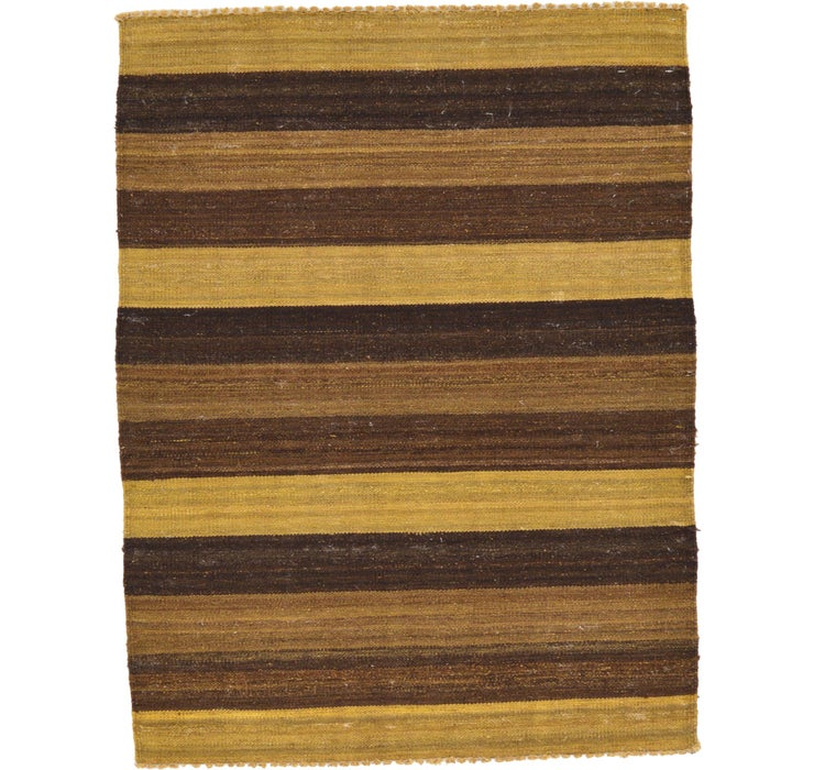 Image of 3' x 3' 11 Striped Modern Kilim Rug