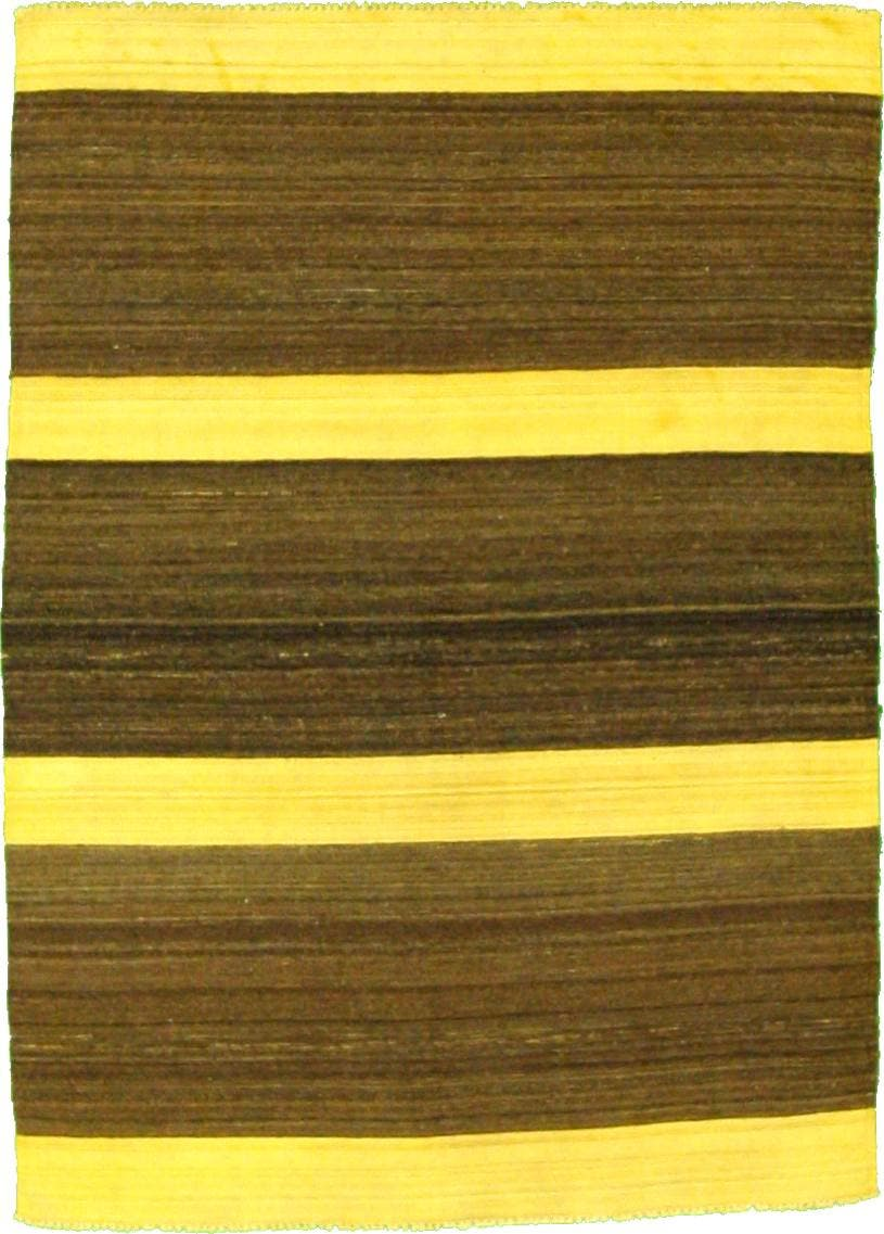 4' 10 x 6' 8 Striped Modern Kilim Rug main image