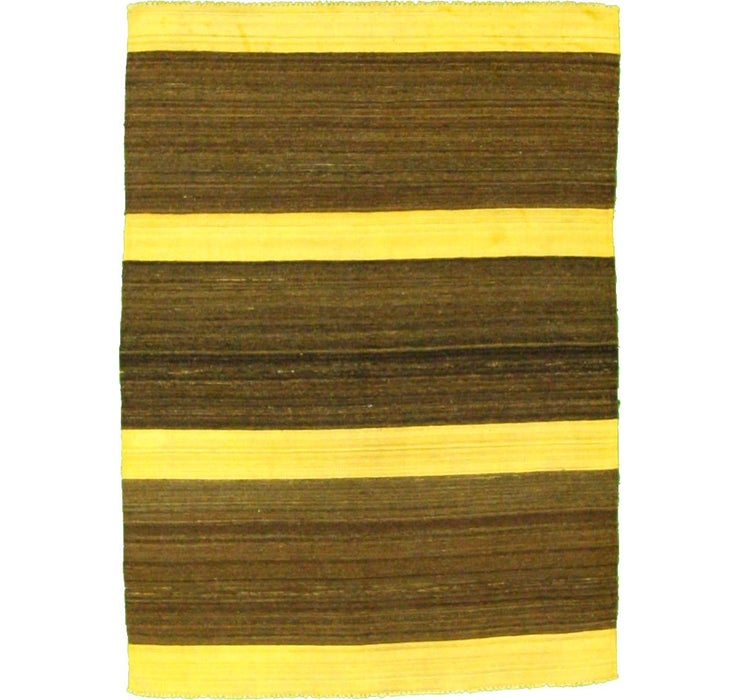 Image of 147cm x 203cm Striped Modern Kilim Rug