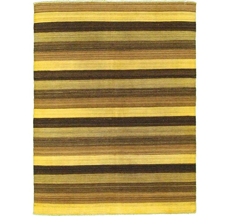 155cm x 200cm Striped Modern Kilim Rug