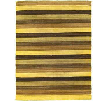 5' 1 x 6' 7 Striped Modern Kilim Rug