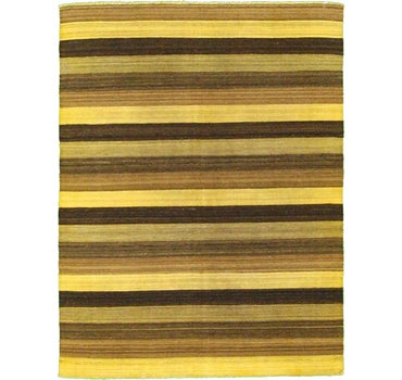 5' 1 x 6' 7 Striped Modern Kilim Rug main image