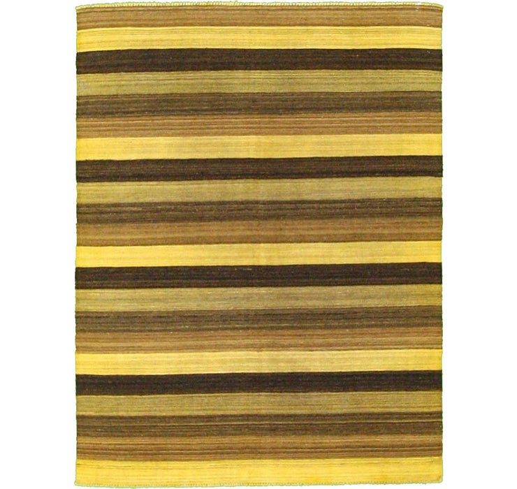 Image of 5' 1 x 6' 7 Striped Modern Kilim Rug