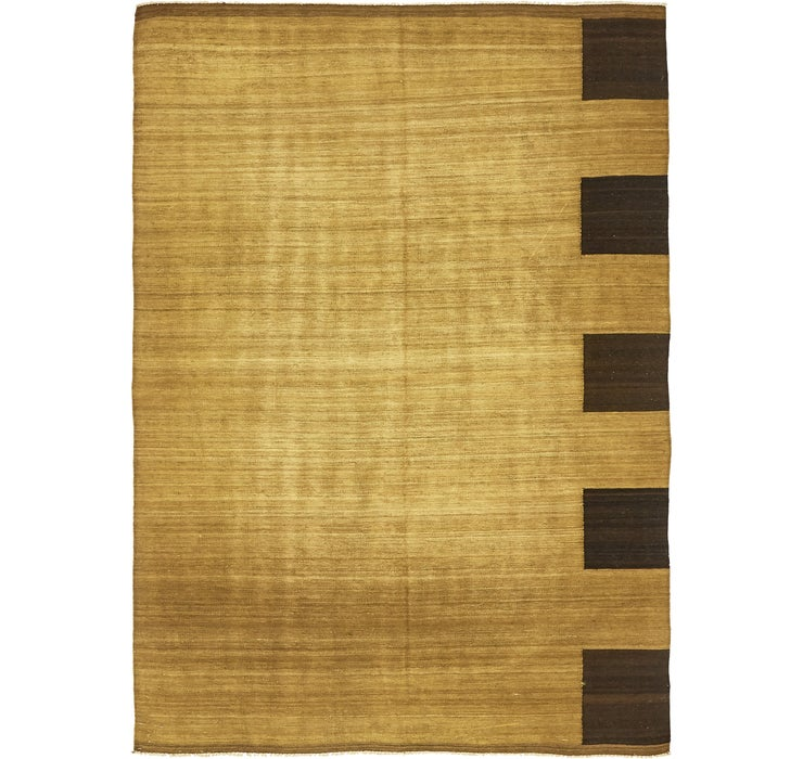6' 1 x 8' 4 Checkered Modern Kilim ...