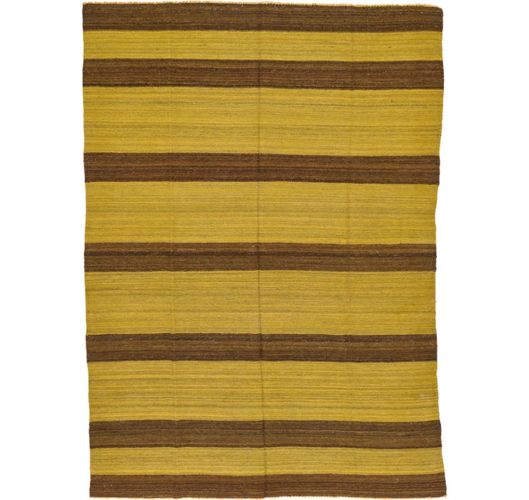 Image of 185cm x 257cm Striped Modern Kilim Rug