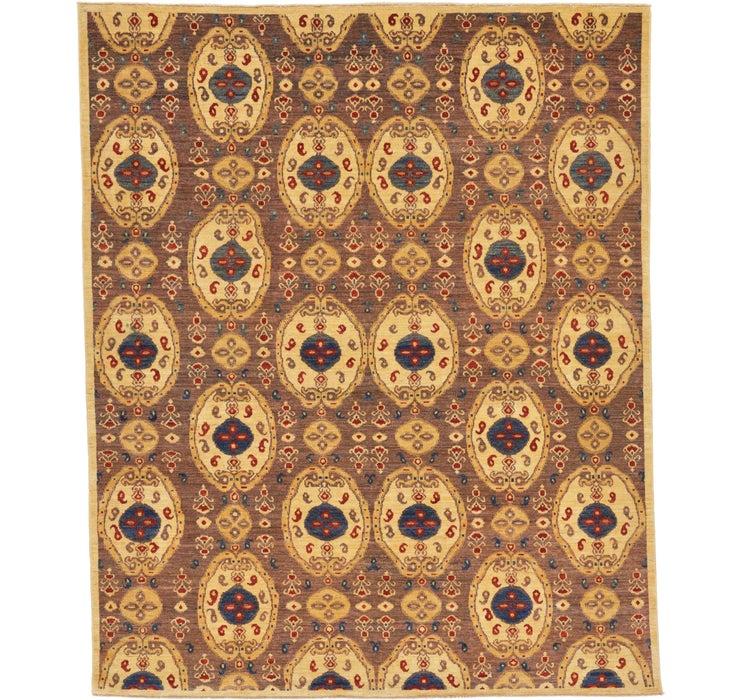 8' 4 x 10' Ikat Oriental Rug