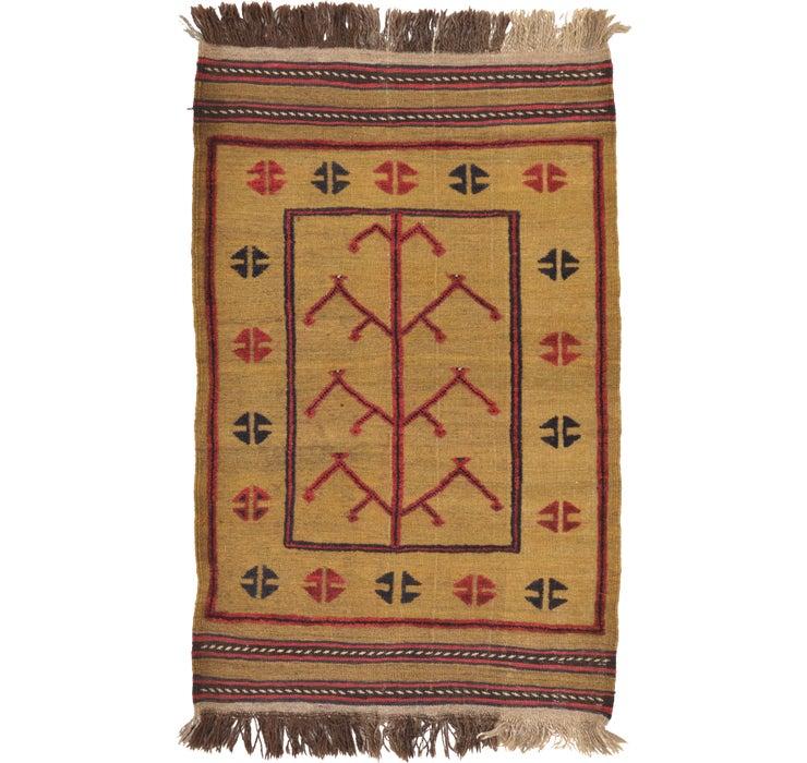 2' 9 x 4' 4 Kilim Afghan Rug