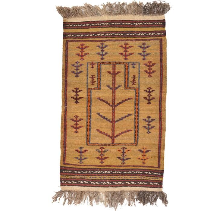 2' 7 x 4' 5 Kilim Afghan Rug