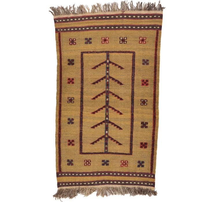 2' 8 x 4' 4 Kilim Afghan Rug