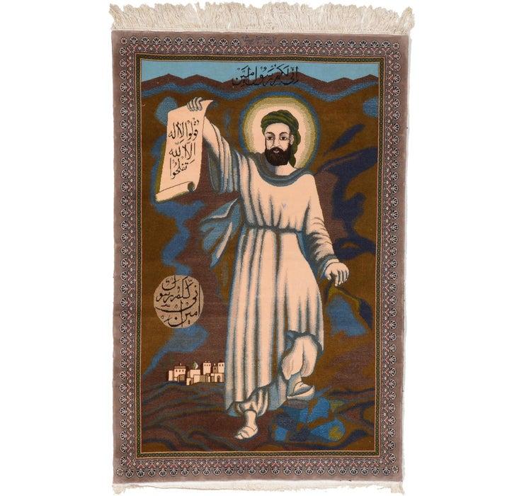 3' 9 x 5' 8 Isfahan Persian Rug