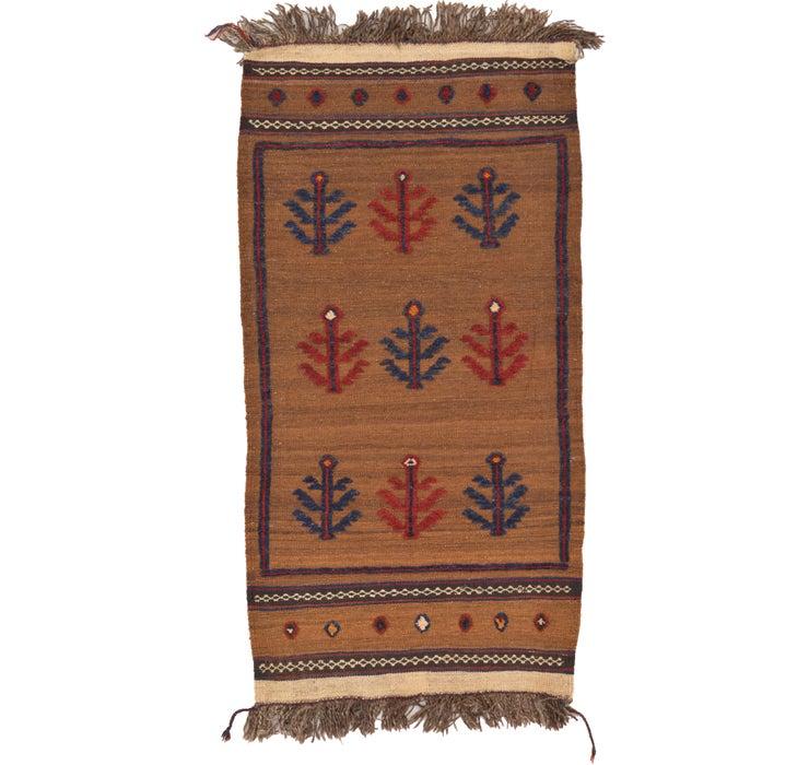 2' 6 x 4' 10 Kilim Afghan Rug
