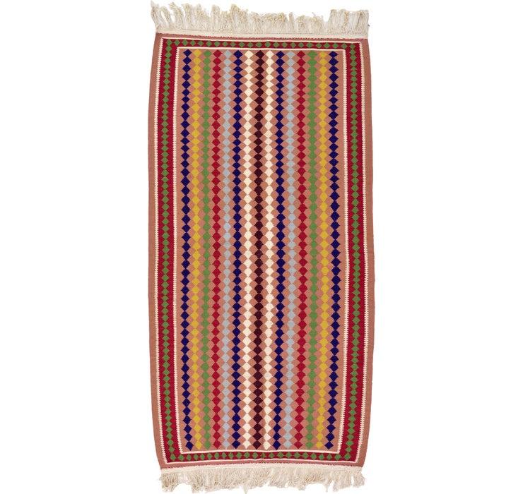 Image of 3' 5 x 6' 6 Kilim Dhurrie Rug