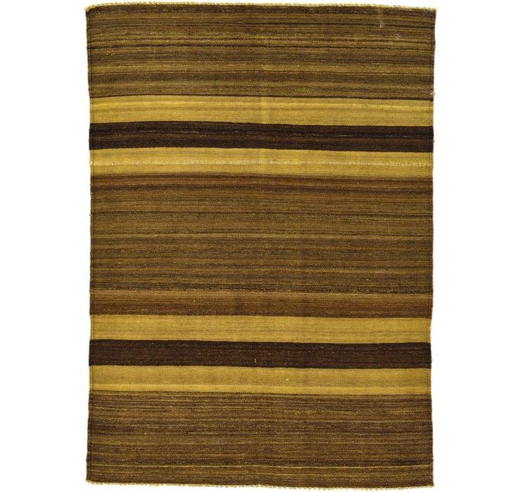 Image of 4' 2 x 5' 9 Kilim Afghan Rug