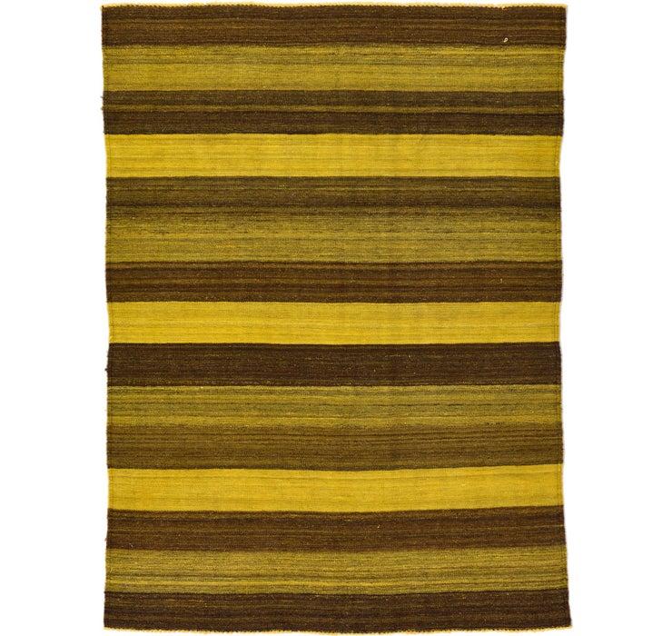 4' 2 x 5' 7 Kilim Afghan Rug