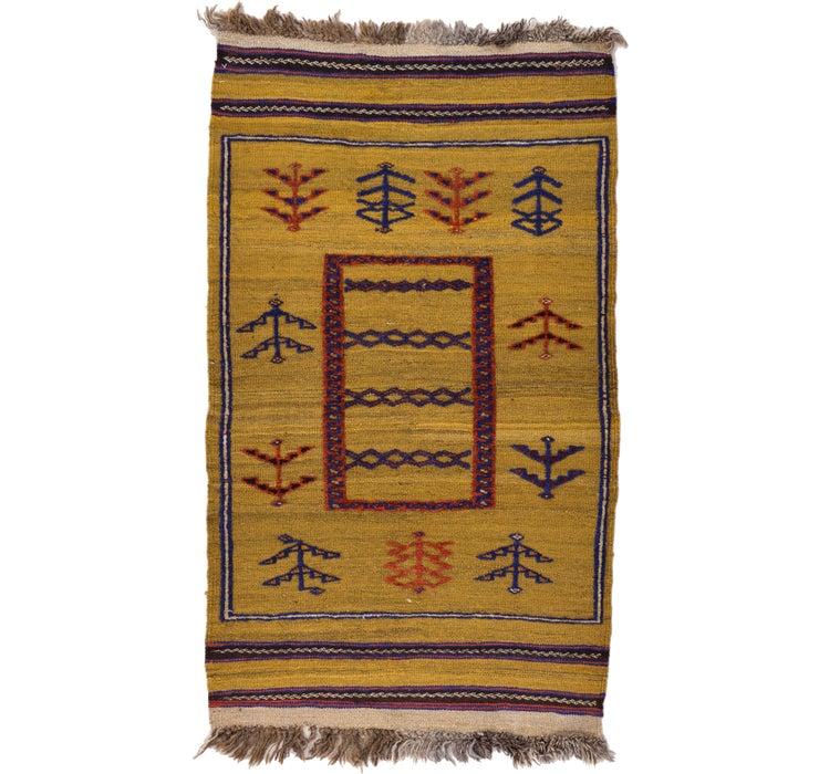 70cm x 125cm Kilim Afghan Rug