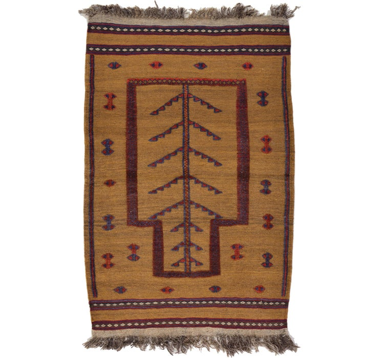 2' 9 x 4' 2 Kilim Afghan Rug